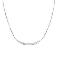 Dinny Hall Sterling Silver Flow Bar Necklace Silver