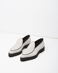 Proenza Schouler Calf Hair Pointy Toe Loafer White