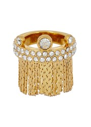 Ca And Lou Karen Fringed 24Kt Gold Plated Ring