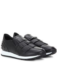 Tod's Leather Sneakers Black
