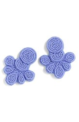 J.Crew Women's Beaded Flutter Earrings Bright Periwinkle