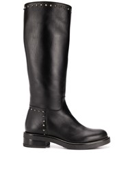 Albano Stud Embellished Mid Calf Length Boots 60