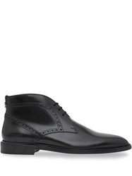 Burberry Brogue Detail Boots Black
