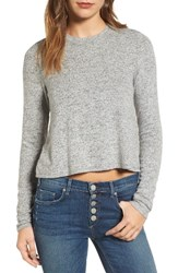 Mcguire Women's Heather Knit Crop Tee