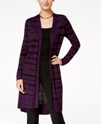 Alfani Striped Midi Cardigan Created For Macy's Plm Broken Bars