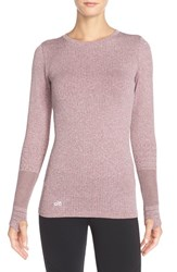 Alo Yoga Women's Alo 'North Star' Long Sleeve Top Deep Plum