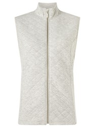 Dash Silver Rib Interlock Gilet Metallic