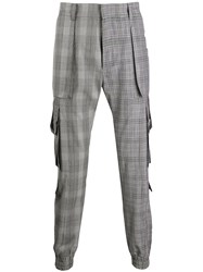 Juun.J Checked Pattern Cargo Trousers 60