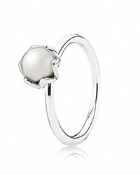 Pandora Design Pandora Ring Sterling Silver And Pearl Cultured Elegance