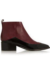 Sigerson Morrison Nina Two Tone Leather Ankle Boots
