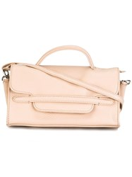 Zanellato Fold Over Closure Crossbody Bag Nude Neutrals