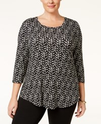 Jm Collection Plus Size Printed Top Only At Macy's Knit Jungle