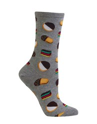 Hot Sox Cotton Blend Cookie Printed Socks Grey