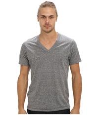 Alternative Apparel Boss V Neck Tee Eco Grey Men's Short Sleeve Pullover Gray