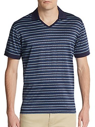 Robert Graham Magnum Classic Fit V Neck Cotton Polo