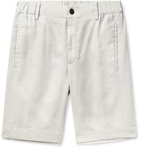 Incotex Slim Fit Linen Shorts Ecru