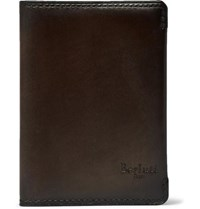 Berluti Essentiel Leather Bifold Cardholder Brown