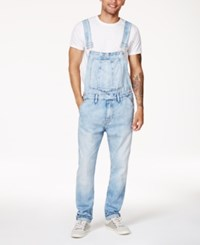 Guess Men's Riverbed Stretch Overalls Riverbed Wash