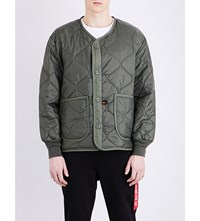 Alpha Industries Quilted Shell Bomber Jacket Olive