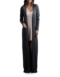 Lemon Cashmere Blend Robe Pewter