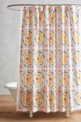 Anthropologie Tegula Shower Curtain Pink