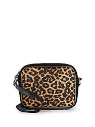 Sam Edelman Leopard Printed Crossbody Bag Brown Black