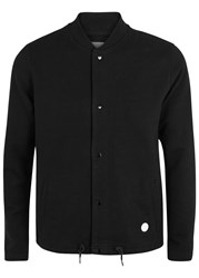 Folk Black Cotton Bomber Jacket