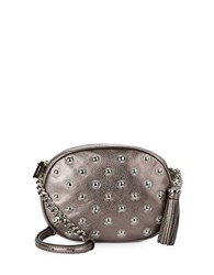 Michael Michael Kors Studded Oval Leather Crossbody Cinder