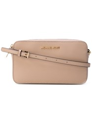 Michael Michael Kors Chain Embellished Shoulder Bag Women Leather One Size Nude Neutrals