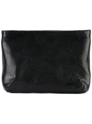 The Last Conspiracy Waxed Zip Coin Purse Unisex Horse Leather One Size Black