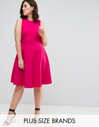 Pink Clove Skater Dress Hot Pink