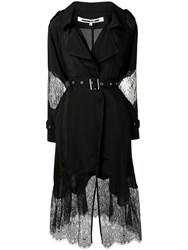 Mcq By Alexander Mcqueen Lace Inserts Trench Coat Black