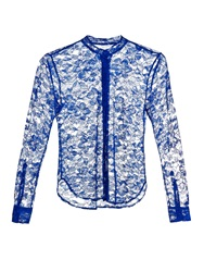 Christopher Kane Collarless Lace Blouse