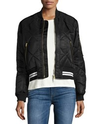 Rag And Bone Vine Quilted Bomber Jacket Red