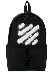 Off White Spray Paint Backpack Black