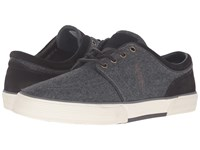 Polo Ralph Lauren Faxon Low Grey Dark Brown Solid Flannel Sport Suede Men's Lace Up Casual Shoes Gray