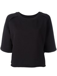 Thom Krom Flared T Shirt Black