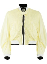 Haider Ackermann Quilted Bomber Jacket Yellow And Orange
