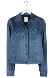Replay Leather Jacket Blue