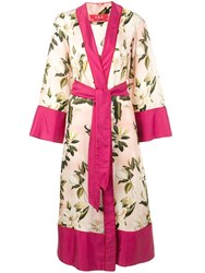 F.R.S For Restless Sleepers Floral Print Robe Coat Pink