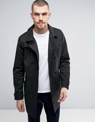 Casual Friday Trench Coat In Mid Length Black