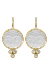 Temple St Clair Women's St. Moonface Diamond And Rock Crystal Earrings