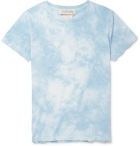 Remi Relief Tie Dyed Cotton Jersey T Shirt Blue