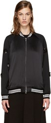 3.1 Phillip Lim Black Tux Bomber Jacket