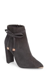 Ted Baker London Qatena Bootie Charcoal Suede