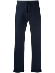 Department 5 Cropped Straight Leg Chinos Blue