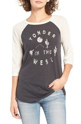 Billabong Women's Yonder West Graphic Baseball Tee