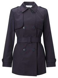 John Lewis Short Trench Coat Navy