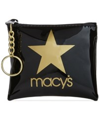 Macy's Star Small Coin Purse Created For Gold Black