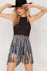 Nasty Gal Knit Picking Fringe Tank
